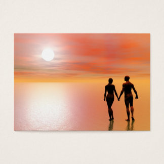 Couple romance - 3D render Business Card