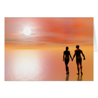 Couple romance - 3D render Card
