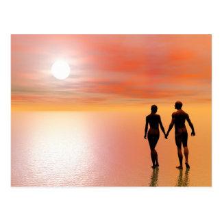 Couple romance - 3D render Postcard