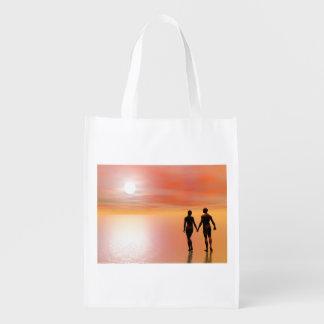 Couple romance - 3D render Reusable Grocery Bag