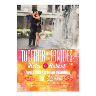 Couple romance kiss in fountain card