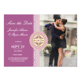 Couple romance kiss in fountain/pink theme card