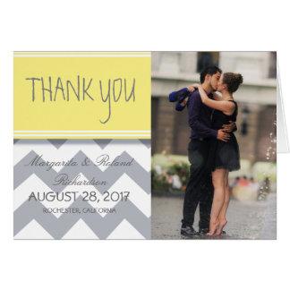 Couple romance kiss in fountain/Thank You Card