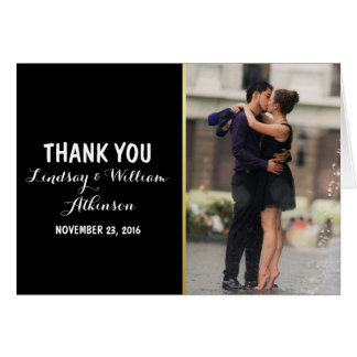 Couple romance kiss in fountain/Thank You Card