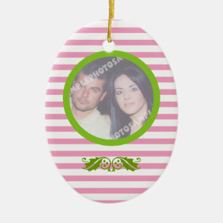 Couple s firs 1st Christmas wedding photo ornament
