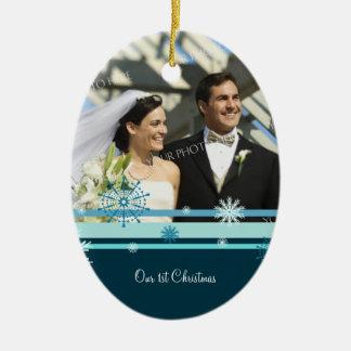 Couple s First Christmas Photo Christmas Ornament