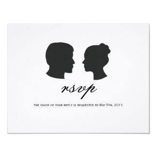 Couple silhouette RSVP Cards