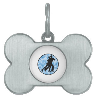 Couple Skate Pet ID Tag