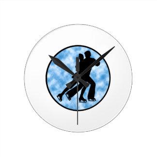 Couple Skate Round Clock