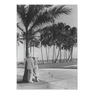 Couple Standing Under Tree Invitation