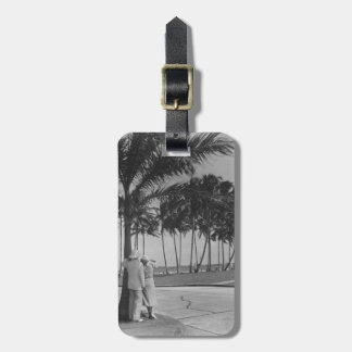 Couple Standing Under Tree Luggage Tag