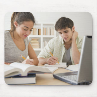 Couple studying together mouse pads