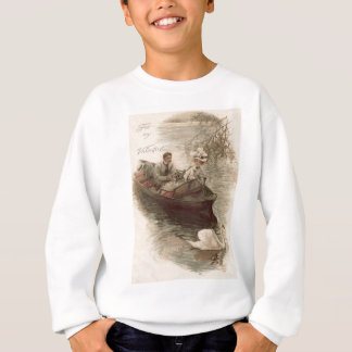 Couple Swan Boat Date Sweatshirt