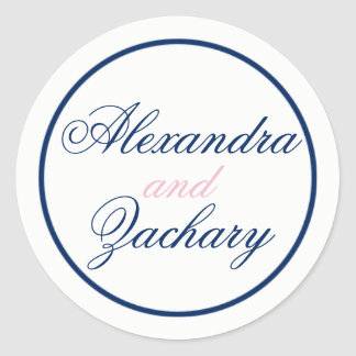 Couple Wedding Favour/Welcome Bag Classic Round Sticker