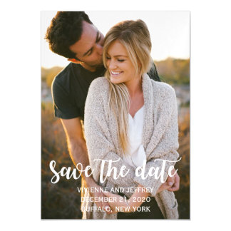 Couple Wedding Photo Save the Date Magnetic Card