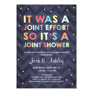 Attractive Couples Baby Shower Invitation Coed Shower Joint
