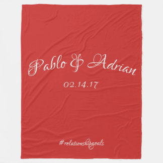 Couple's Blanket (Red)