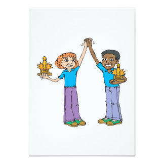 """Couples Bowling Champions 5"""" X 7"""" Invitation Card"""