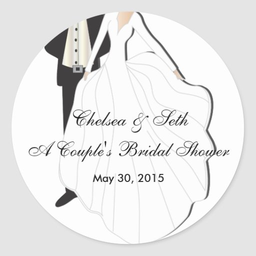 Couple's Bridal Shower Stickers