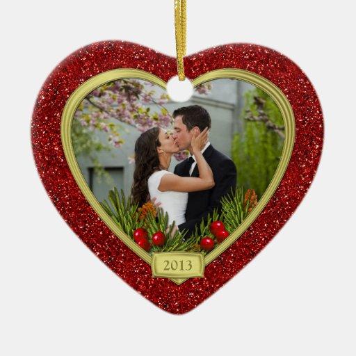 Couple's First Christmas Together Photo Christmas Christmas Tree Ornament