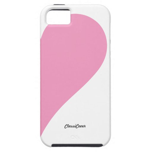Couples Heart Pink White Left Case-Mate iPhone 5 Case