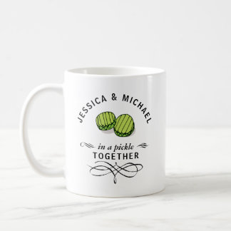 Couples' In a Pickle Together Personalised Coffee Mug