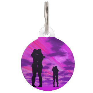 Couples in love - 3D render Pet Name Tag