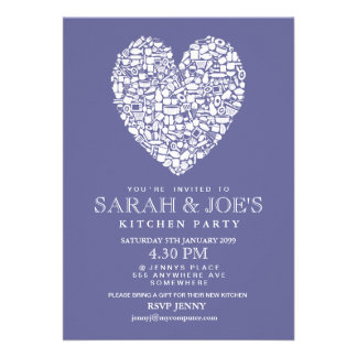 Couple's New Kitchen House Warming Party Invite
