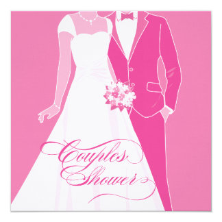 Couples Shower Invitation - Pink