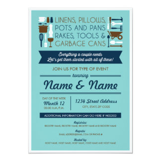 Couples Shower Invite (gifts for around the house)
