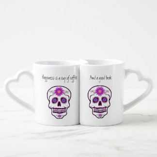 Couples ' Sugar Skull Book Lovers Mug Set