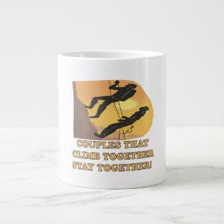 Couples That Climb Together Large Coffee Mug