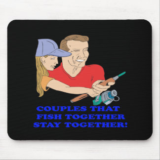 Couples That Fish Together 2 Mouse Pad