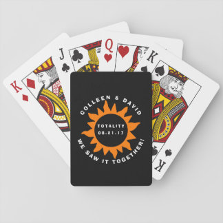 Couples Totality Solar Eclipse Personalized Playing Cards