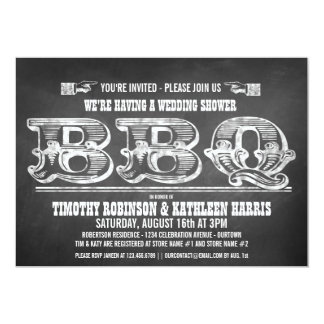 Couples Wedding Shower Barbeque Invitations