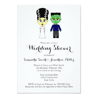Couples Wedding Shower Halloween Theme Invitation