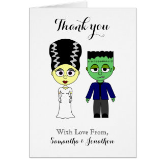 Couples Wedding Thank You Cards Halloween Theme