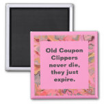 coupon clippers joke square magnet