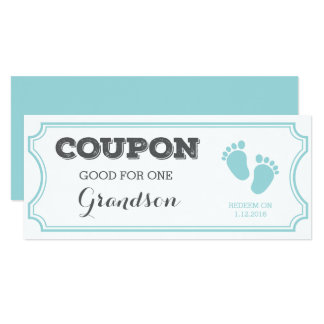 Coupon for one Grandson Baby Announcement