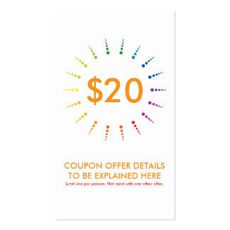 coupon rainbowBurst Business Cards