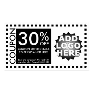 coupon template business cards