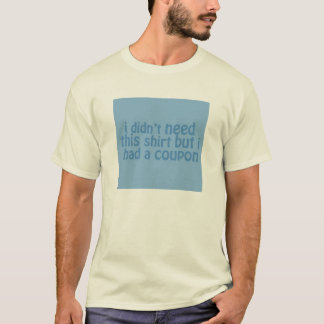 Coupons t-shirt