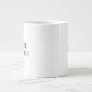 Courage & Coffee. Simply That. Large Coffee Mug