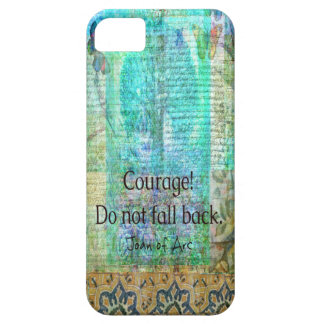 Courage Do not fall back JOAN OF ARC quote Barely There iPhone 5 Case