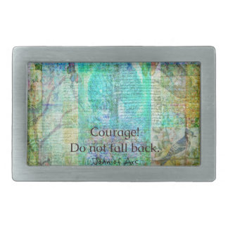 Courage Do not fall back JOAN OF ARC quote Belt Buckles