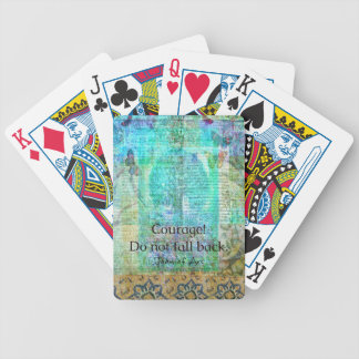 Courage Do not fall back JOAN OF ARC quote Bicycle Playing Cards