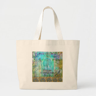 Courage Do not fall back JOAN OF ARC quote Large Tote Bag