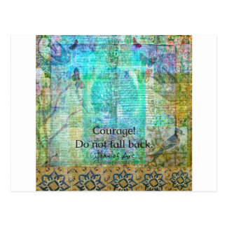 Courage Do not fall back JOAN OF ARC quote Postcard