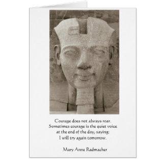 Courage - Egyptian king Card