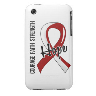 Courage Faith Hope 5 Head Neck Cancer iPhone 3 Case-Mate Cases